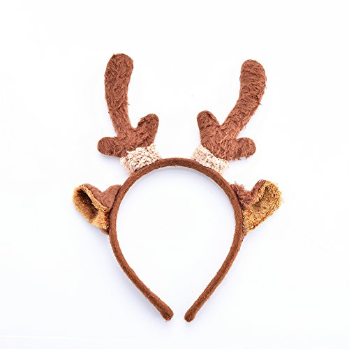 Nood Lovely Christmas Headbands Reindeer Antlers For Baby & Adult 8″ x 8″ (1 Pack) …