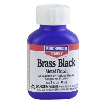 Birchwood Casey Brass Black Metal Finish, (Black Finish Bush)
