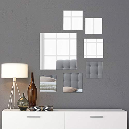 (Light In The Dark Large Square Mirror Wall Mounted Assorted Sizes (1x12