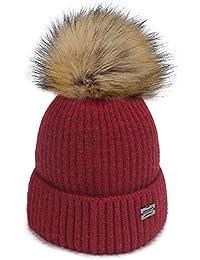 Kids Winter Faux Fur Pom Pom Hat Toddler Boys Girls Kids...