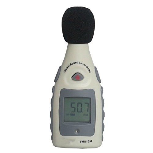GOCHANGE LCD Schallpegelmessgerät, Tragbar Digital Sound Level Meter, Schallpegelmesser 30dBA~130dBA mit eine 9V batterie
