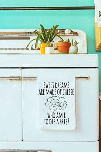 (Funny Dishcloth/Tea Towel ~ Sweet Dreams Are Made Of Cheese ~ Funny Kitchen Cloth.)