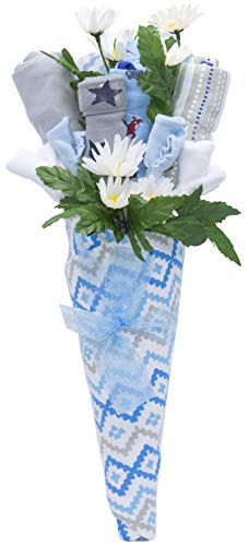 Nikki s New Baby Blossom Clothing Bouquet Gift Blue or Pink Baby Boy