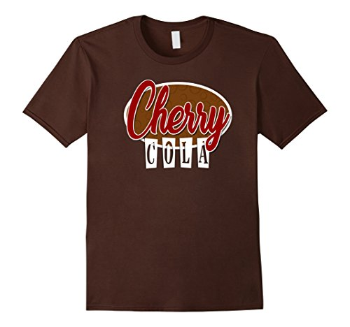 Fountain Drink Costume (Mens SODA POP Group Costume | Cherry Cola Soda Costume Large Brown)