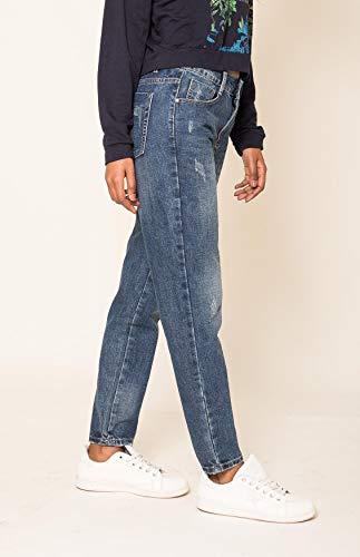 Stile Pantaloni Nina D2516 Ragazzo Carter Jeans Distrutto Blu Donna tIfR1qf