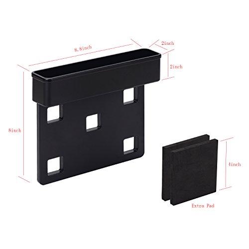 I-MART Console Side Pocket, Car Organizer, Car Seat Gap Filler Black (Set of 2)