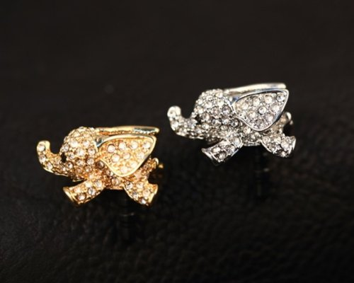 Big Mango Cute Crystal Elephant Anti Dust Plug Stopper / Ear Cap / Cell Phone Charms for Apple iPhone 5 5S,iPhone 4 4s ,iPad Mini iPad 2 ,iPod Touch 5 4,Samsung Galaxy S3 S4 Note3 Note 2,HTC and Other 3.5mm Earphone Jack Phones ( Golden ) (Elephant Plug For Iphone 4s)