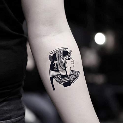 Cleopatra Etiqueta engomada Falso Temporal del Tatuaje (Juego de 2) - TOODTATTOO.COM