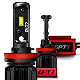 OPT7 Fluxbeam CORE H11 H8 H9 H16 LED Headlight Bulbs with FX-7500 CREE Chip Plug-N-Play Conversion Kit - 6,000LM 6000K Cool White - Built. Not Bought.