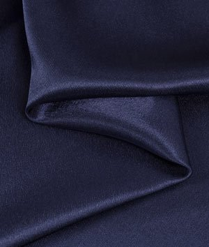 Navy Blue Crepe Back Satin Fabric - by the Yard