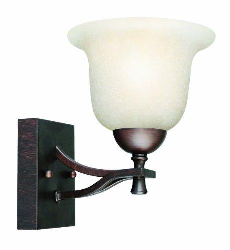 Design House 517540 Ironwood 1 Light Wall Light, Brushed Bronze