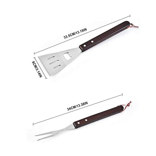 Basisago - Set di utensili per barbecue, set forchetta da barbecue, in acciaio inossidabile, set di attrezzi per… 2 spesavip