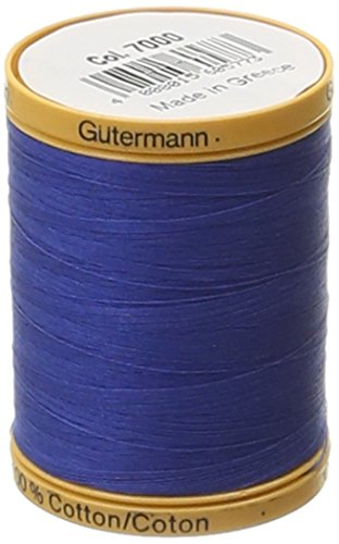 Gutermann Natural Cotton Thread, 800m/875 yd, Royal Blue by Gutermann