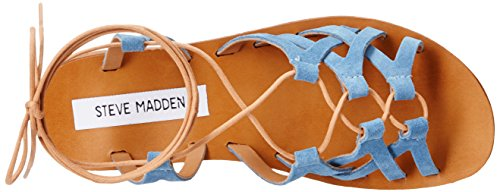 Sandal Wedge Seaashor Denim Steve Suede Madden Women's x6qwqU0P