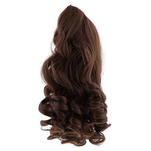 MagiDeal 8 Colors Fantasy Middle Parting Wavy Curly Hair Wig for 18inch American Girl Dolls Hairpiece Making Supplies - Coffee (Girl Fantasy Wig)