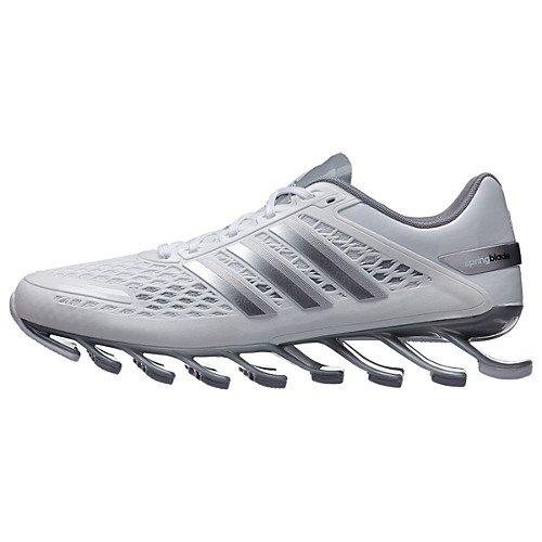 adidas Springblade Razor Mens White/Metallic Silver/Grey Running/Course Sneakers (Adidas Blade Shoes)