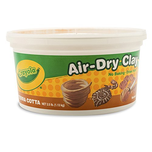 Wholesale CASE of 25 - Crayola Air-Dry Clay -Clay, Air Dry, 2.5lb., Terra Cotta by CYO