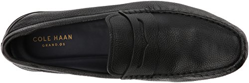 Cole Haan Mens Branson Driver Penny Loafer Black Tumbled