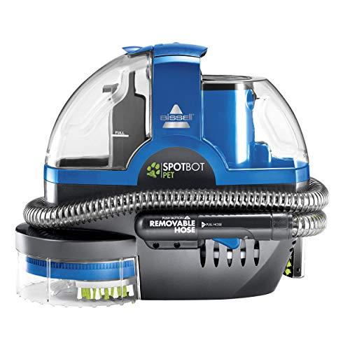 Bissell SpotBot Pet handsfree Spot and Stain Portable Deep Cleaner, Blue, 2117A (Renewed)