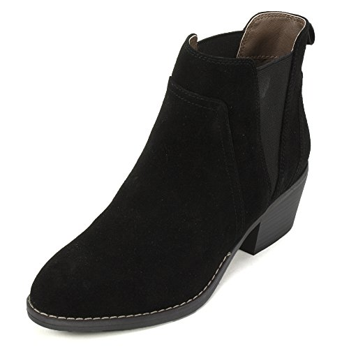 White Mountain Women's Hale Ankle Bootie, Black, 8 M US (Black And White Booties)