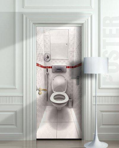 Wall Door STICKER Toilet WC Bathroom Water Closet , Mural, Decole, Film  30x79u0026quot;