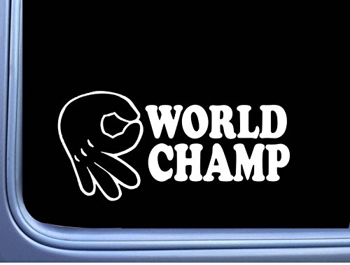 (Circle Game World Champ Vinyl Decal M122 8 Inch Sticker car laptop mickey hand)