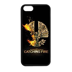 Funny Gift Hunger Games 2 Catching Fire Durable Best PVC and Rubber Laser Iphone 5 5S Case