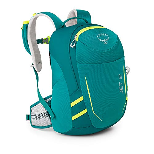 Osprey Youth Jet 12 Backpack, Real Teal, One - Pack Jet Backpack Child