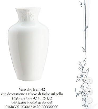 Manifattura 1946 Tall Vase H 42 Cm Leaves On The Neck Porcelain Richard Ginori Amazon Co Uk Kitchen Home