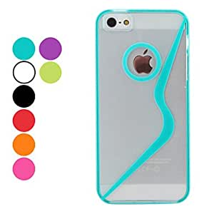 S-Shape Style Hard Case for iPhone 5/5S (Assorted Colors) --- COLOR:Green