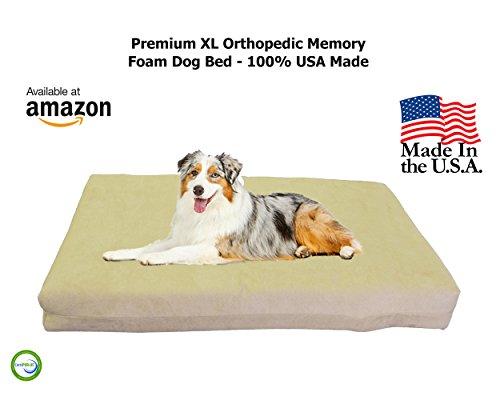Extra Large Dog Beds - XL Orthopedic Memory Foam Pet Bed - 40