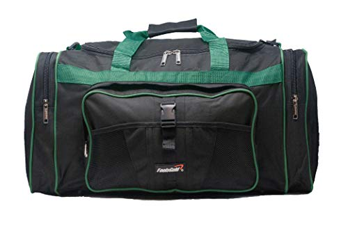 6d4a2a8f3c63 foolsGold 50L Luggage Gym Holdall Duffle Bag - Large (Black Teal)