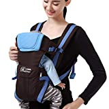 DDLBiz Newborn Baby Boys Girls Carrier Sling Wrap Versatile Backpack Front Back (Blue)