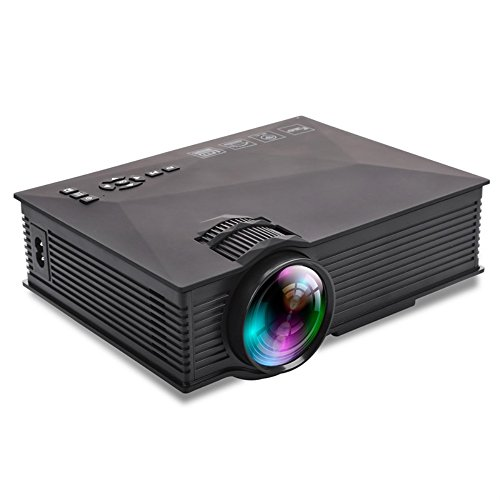 GAOGA Upgraded Mini Portable Projector Wifi LED Full HD Video Projector HDMI, USB, SD, VGA+20% Brighter for Home Theater TV, Laptops, Games and iPhone iPad Android Smartphone