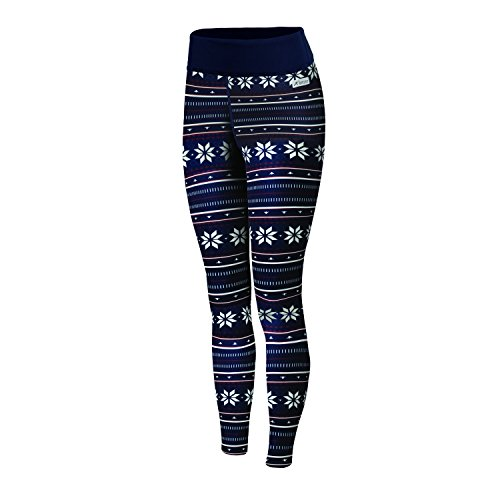 Womens Expedition Weight - Terramar Genesis Expedition Weight Legging Pants, Nordic Print, X-Small (2-4)