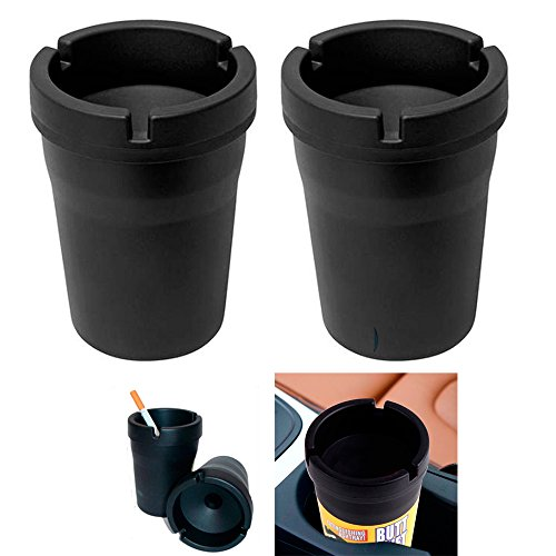 2 Jumbo Butt Bucket Ashtray Cigarette Extinguishing Car Cup Ash Holder Portable