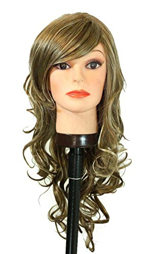 Weeknd Hair Costume (23in. Mixed brown Synthetic Hair Replacement Wig)
