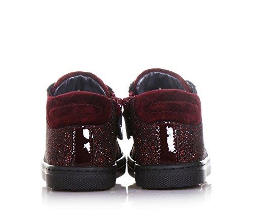 CIAO BIMBI - Zapatilla de cordones burdeos de tejido glitter, curada en todos los detalles y capaz de combinar estilo, Niña, Niñas