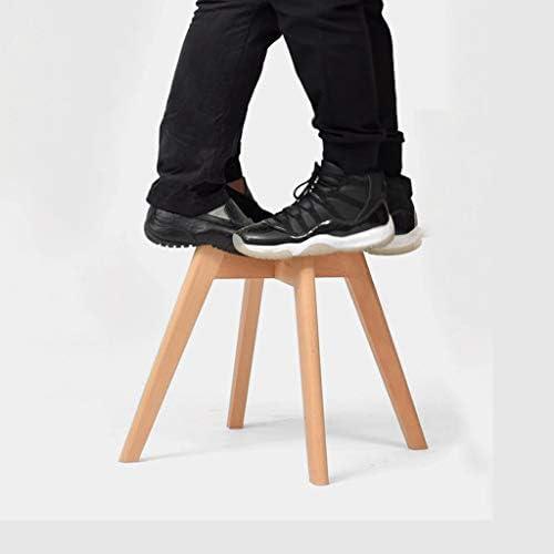 Chaise en bois massif avecchaise de dossier nordique moderne simple tabouret restaurant salle à manger chaise bleu (Color : Blue)