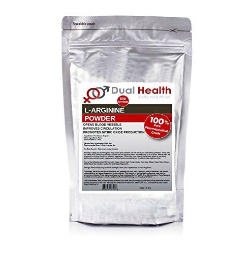 Pure L-Arginine (2 lbs) Free Form Base Powder Bulk Supplements