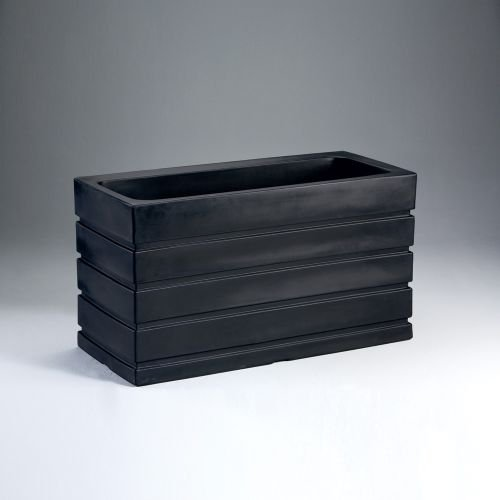 Latin Spirit EP-LSLIM-BLA-3616 36 x 16 x 20 in. Lima Rectangular Planter44; Black by Latin Spirit