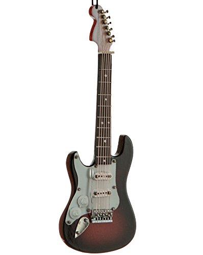 Adorno de Navidad para Guitarra Eléctrica (para zurdos), color marrón