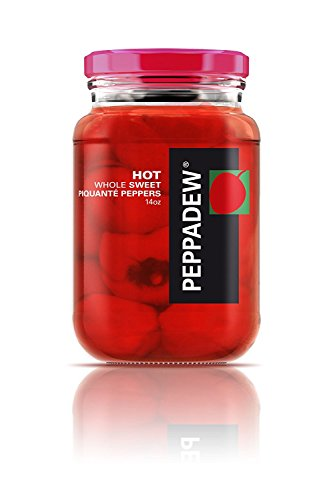 Peppadew ( 2 Pack ) HOT Whole Sweet Piquante Peppers - 14oz Each