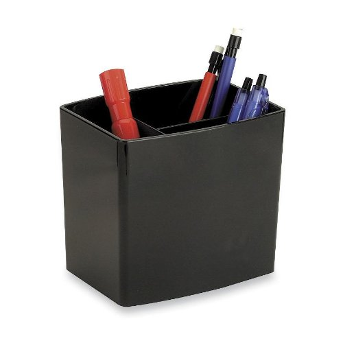 Officemate 2200 Series Executive Large Three-Tiered Pencil Cup, Black (22292) ()