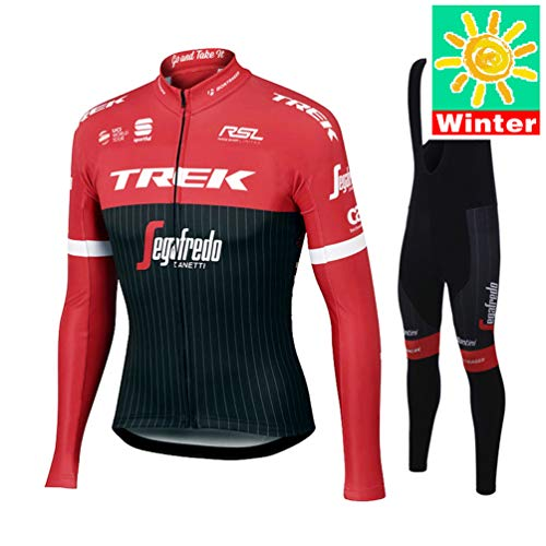 XiXiMei Style 10 Mountain BIK Winter Thermal Warm Long Sleeve for Men MTB Cycling Jacket and Bib Tights Set Medium