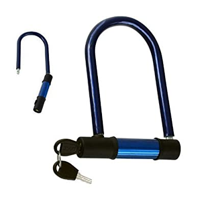 Steel U-Lock Bike & Motorcycle Lock - Weighs Just 10 Oz