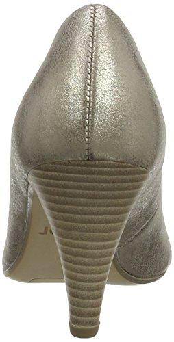 Gabor Brax - Zapatos De Tacón para mujer Gold (Gold Leather/Taupe Suede)