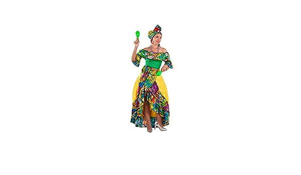 DISBACANAL Disfraz Rumbera caribeña Mujer - -, M: Amazon.es ...