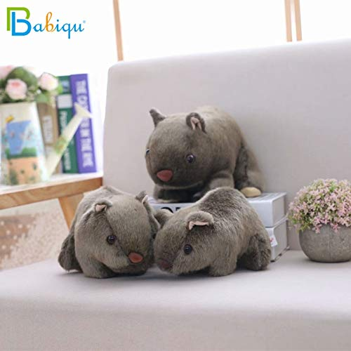 WATOP Stuffed Animals - Teddy Bears| 1pc 18cm Simulation Plush Wombat Guinea Pig cavia porcellus Toy Stuffed Wild Animal Doll Toys Baby Children Gift Home Shop Decor