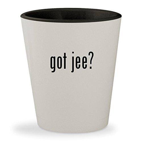 got jee? - White Outer & Black Inner Ceramic 1.5oz Shot Glass